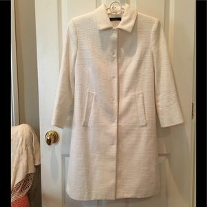 ELIE TAHARI jacket cotton white